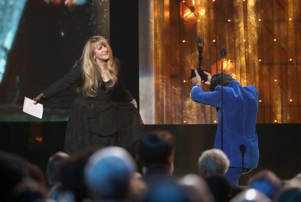 Harry Styles Inducts Stevie Nicks