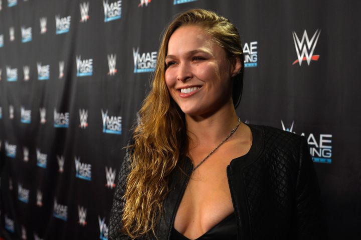 Ronda Rousey appears on the red carpet of the WWE Mae Young Classic on Sept. 12, 2017 in Las Vegas, Nevada.