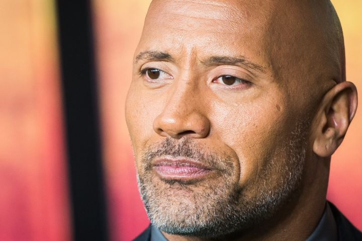 Dwayne Johnson attends the 'Jumanji: Welcome To The Jungle' UK premiere at Vue West End on December 7, 2017 in London, England.