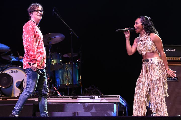 Weezer and Rozonda 'Chilli' Thomas of TLC -Kevin Winter/Getty Images for Coachella