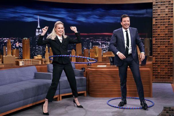 Hula-Hooping Brie Larson