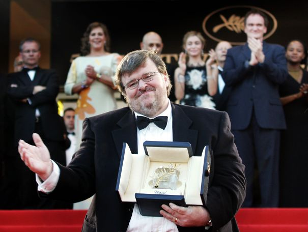Michael Moore Wins The Palme d'Or, 2004