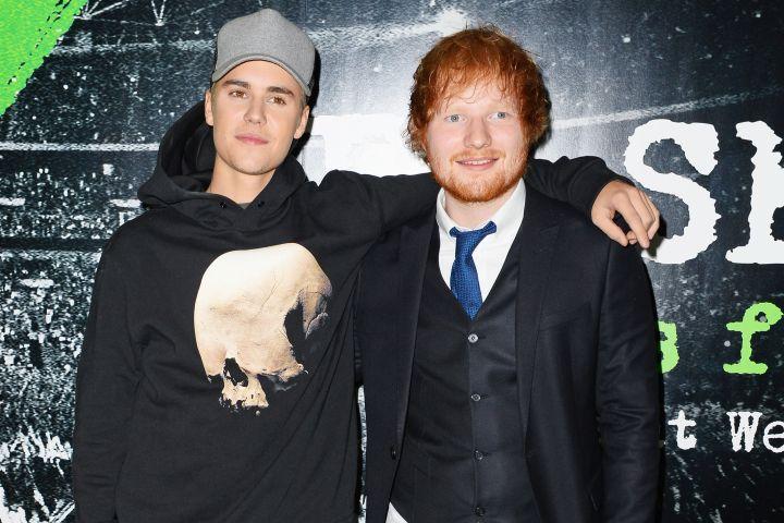 Justin Bieber and Ed Sheeran. Photo: David M. Benett/Dave Benett/WireImag