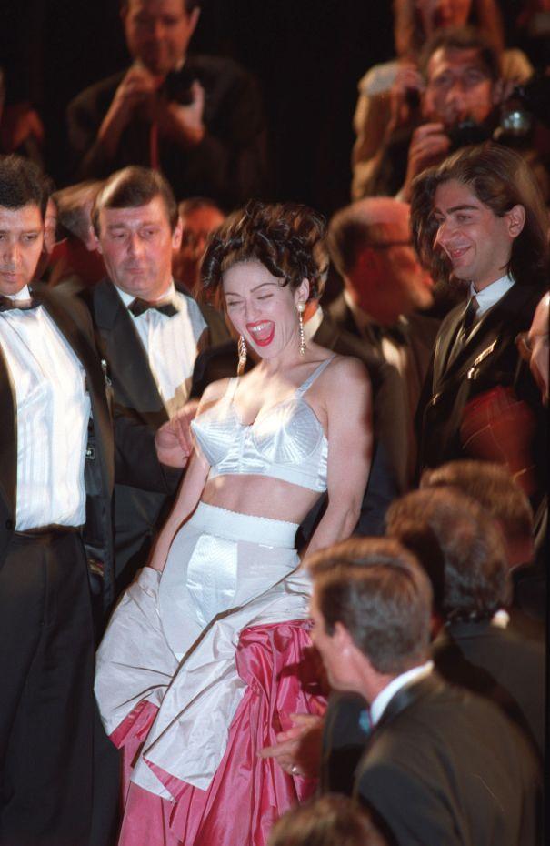 Madonna Shows Off The Cone Bra, 1991