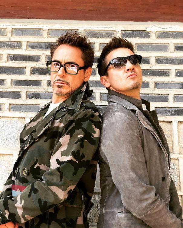 Iron Man & Hawkeye Strike A Pose