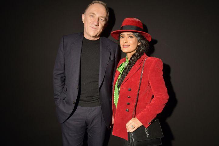 Francois-Henri Pinault and Salma Hayek. Photo by Swan Gallet/WWD/REX/Shutterstock