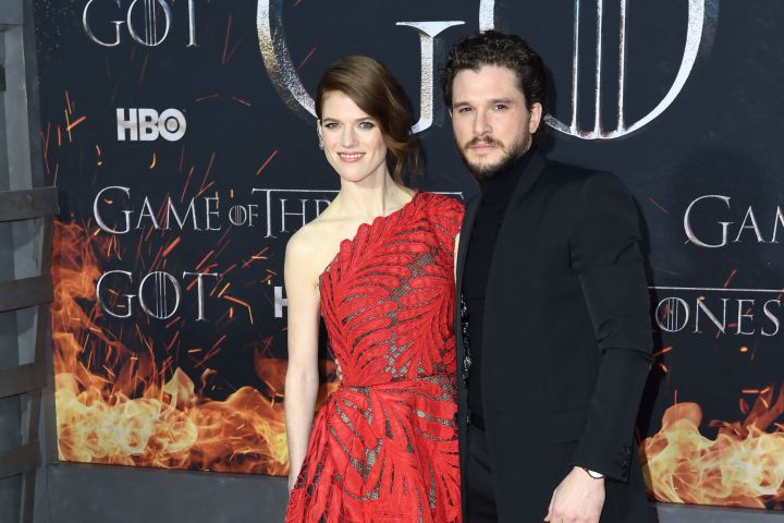 Rose Leslie and Kit Harington. Photo: Stephen Lovekin/REX/Shutterstock