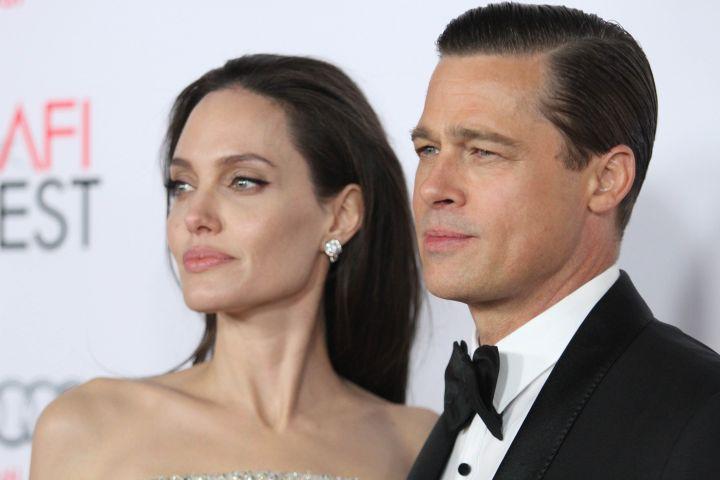 Mandatory Credit: Photo by Matt Baron/REX/Shutterstock (5354923ah) Angelina Jolie and Brad Pitt 'By the Sea' film premiere, Los Angeles, America - 05 Nov 2015
