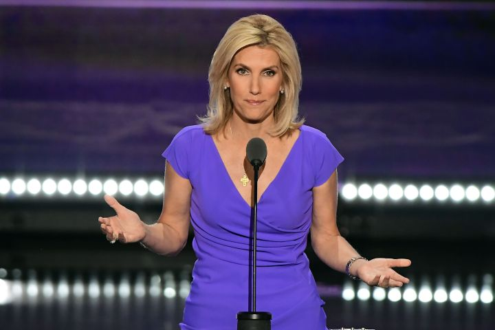 No New York or New Jersey newspapers or newspapers within a 75 mile radius of New York City. Mandatory Credit: Photo by REX/Shutterstock (5779443ax) Laura Ingraham, Conservative Political Commentator, makes remarks at the 2016 Republican National Convention held at the Quicken Loans Arena in Cleveland, Ohio. Republican National Convention, Cleveland, USA - 20 Jul 2016