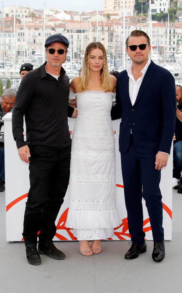 Margot Robbie, Leonardo DiCaprio, Brad Pitt Strike A Pose In Cannes