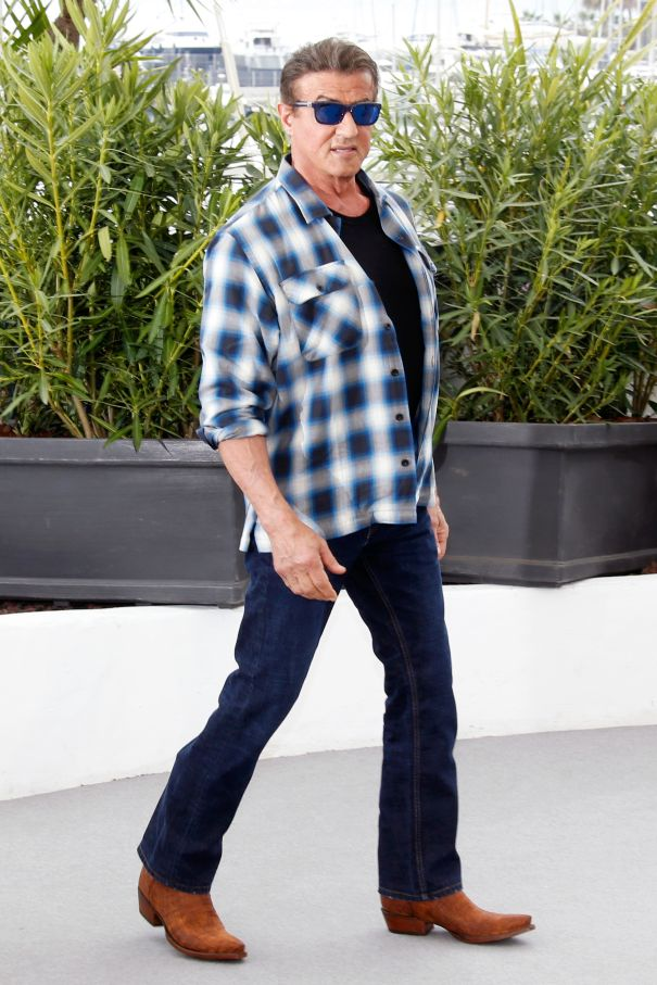 Sylvester Stallone's Cowboy Boots In Cannes
