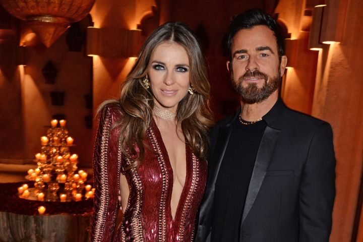 Elizabeth Hurley and Justin Theroux. Photo by David M. Benett/Dave Benett/Getty Images