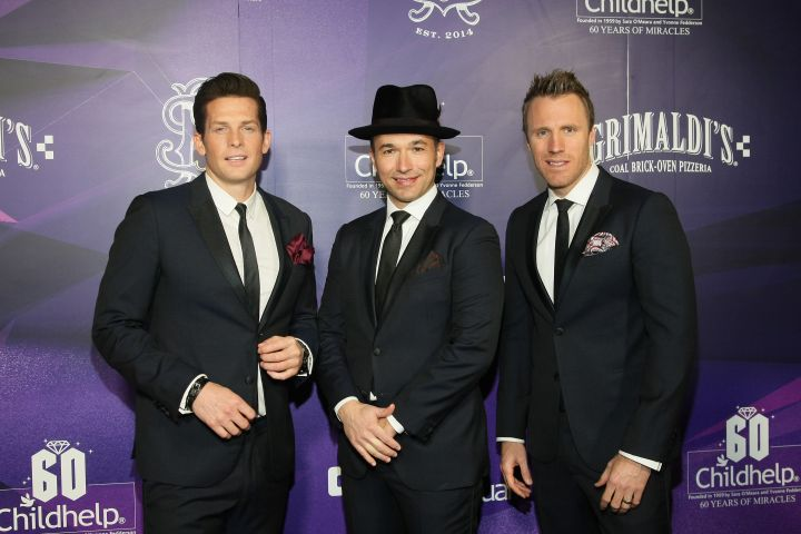 Clifton Murray, Victor Micallef and Fraser Walters, of The Tenors. Photo by John Medina/Getty Images