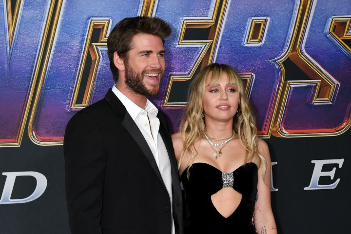 Liam Hemsworth and Miley Cyrus. Photo: Jeff Kravitz/FilmMagic