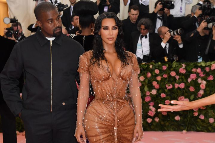 Kanye West and Kim Kardashian. Photo: ANGELA WEISS/AFP/Getty Images
