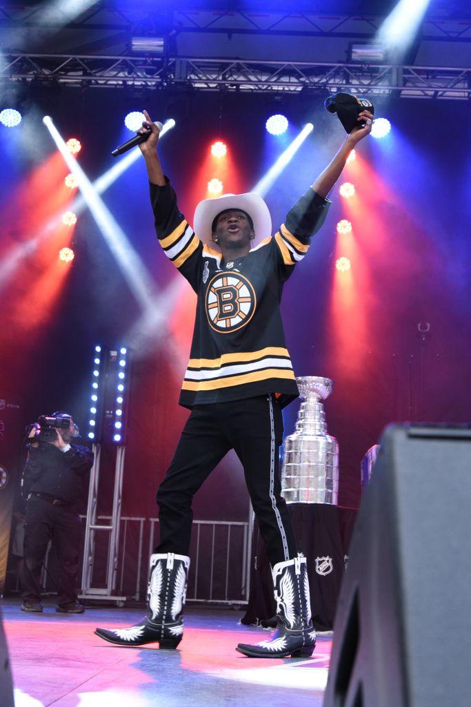 Lil Nas X. Photo by Angela M. Spagna/NHLI via Getty Images