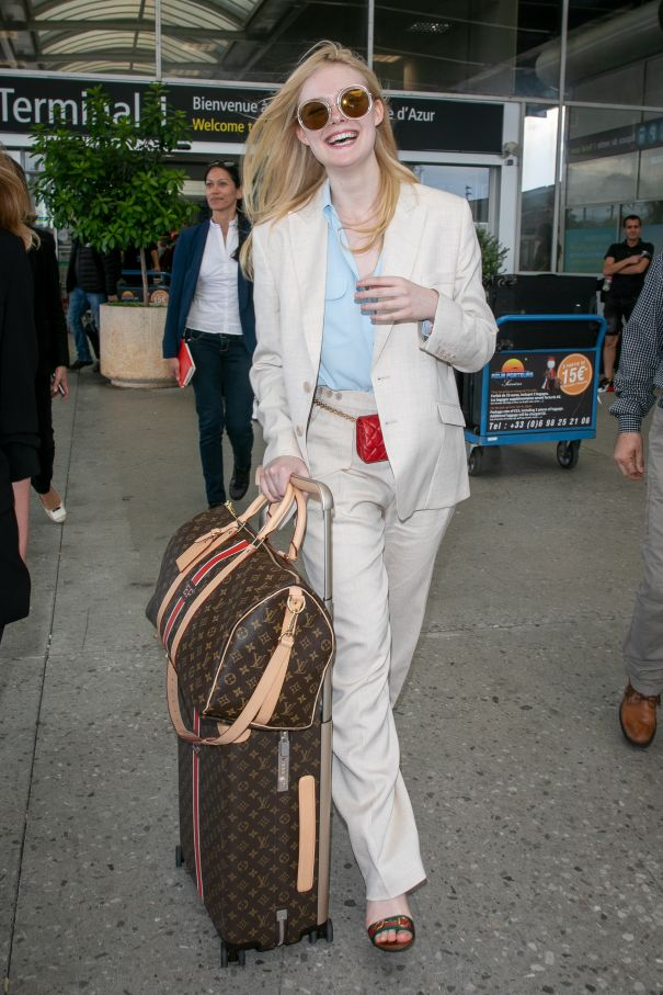 Elle Fanning Arrives In Style