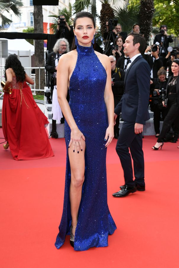 'Oh Mercy!' Adriana Lima Hits The Cannes Red Carpet