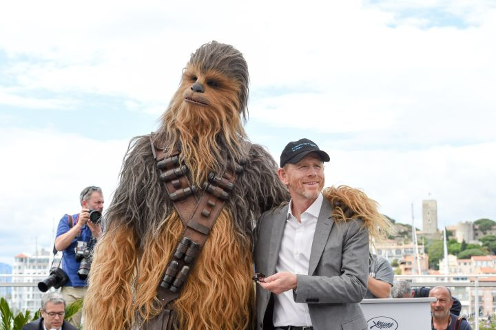 Chewbacca and Ron Howard. Photo: Stephane Cardinale - Corbis/Corbis via Getty Images