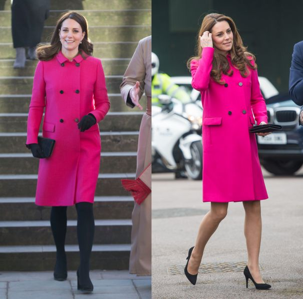 January 2018 & March 2015 - Hot Pink Mulberry Coat