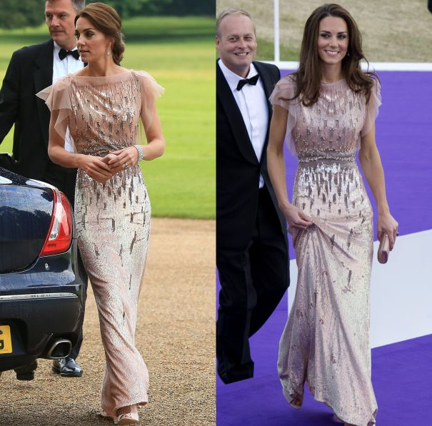 June 2016 & June 2011 - Jenny Packham Embellished Gown