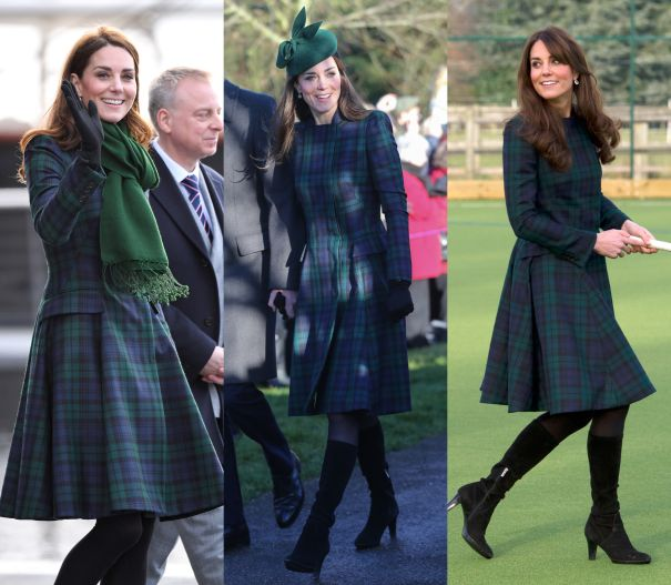 January 2019, November 2012 & December 2013 - Alexander McQueen Plaid Dress