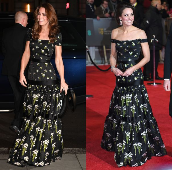 March 2019 & February 2017 - Alexander McQueen Floral Dress