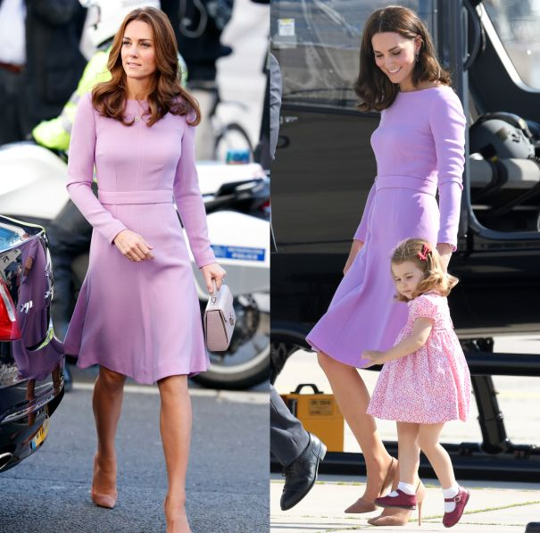 October 2018 & July 2017 - Emilia Wickstead Lavender Dress