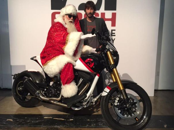 He Let Santa Ride His Motorcycle