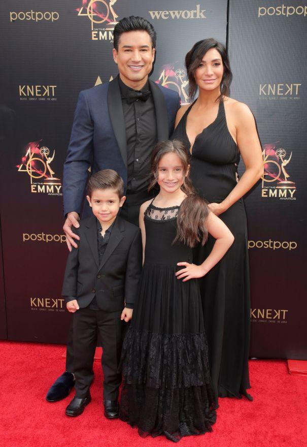 Mario Lopez, Courtney Lopez And Family