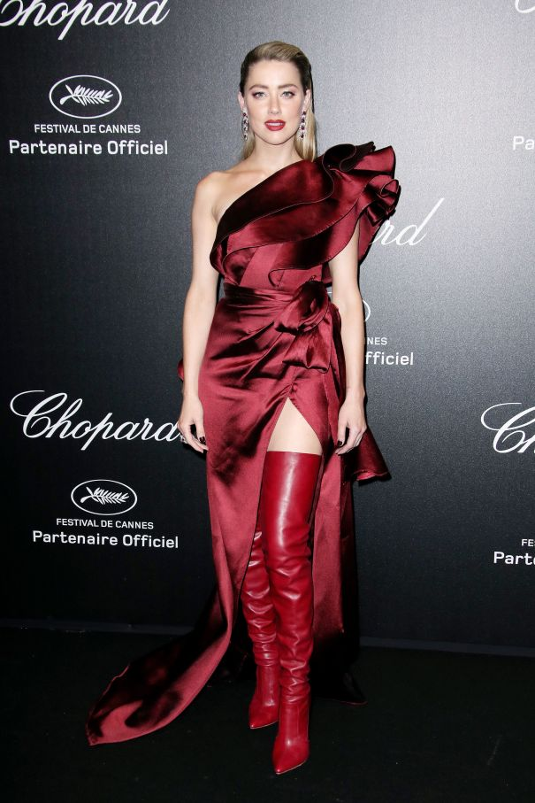 Amber Heard Is A Lady In Red