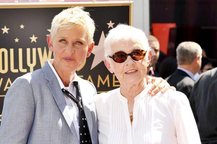 Ellen DeGeneres and Betty DeGeneres. Photo: Broadimage/REX/Shutterstock