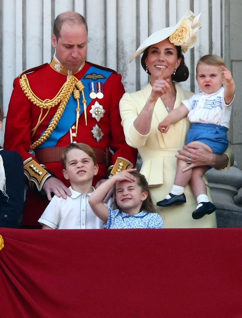 Prince William, Catherine, Duchess of Cambridge, Prince George, Princess Charlotte and Prince Louis. REUTERS/Hannah Mckay