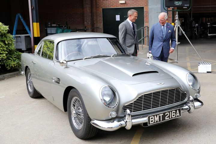 Britain's Prince Charles meets with actor Daniel Craig as he tours the set of the 25th James Bond Film at Pinewood Studios in Iver Heath, Buckinghamshire, Britain June 20, 2019. Chris Jackson/Pool via REUTERS