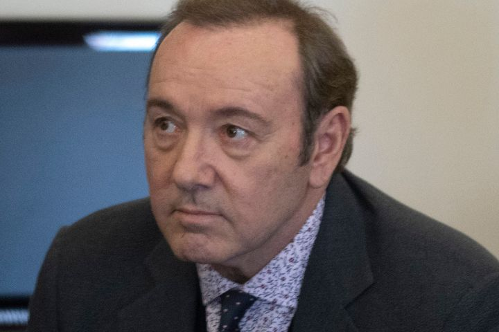 Kevin Spacey appears at the Nantucket District Court, in Nantucket, Mass., on Jan. 7, 2019.