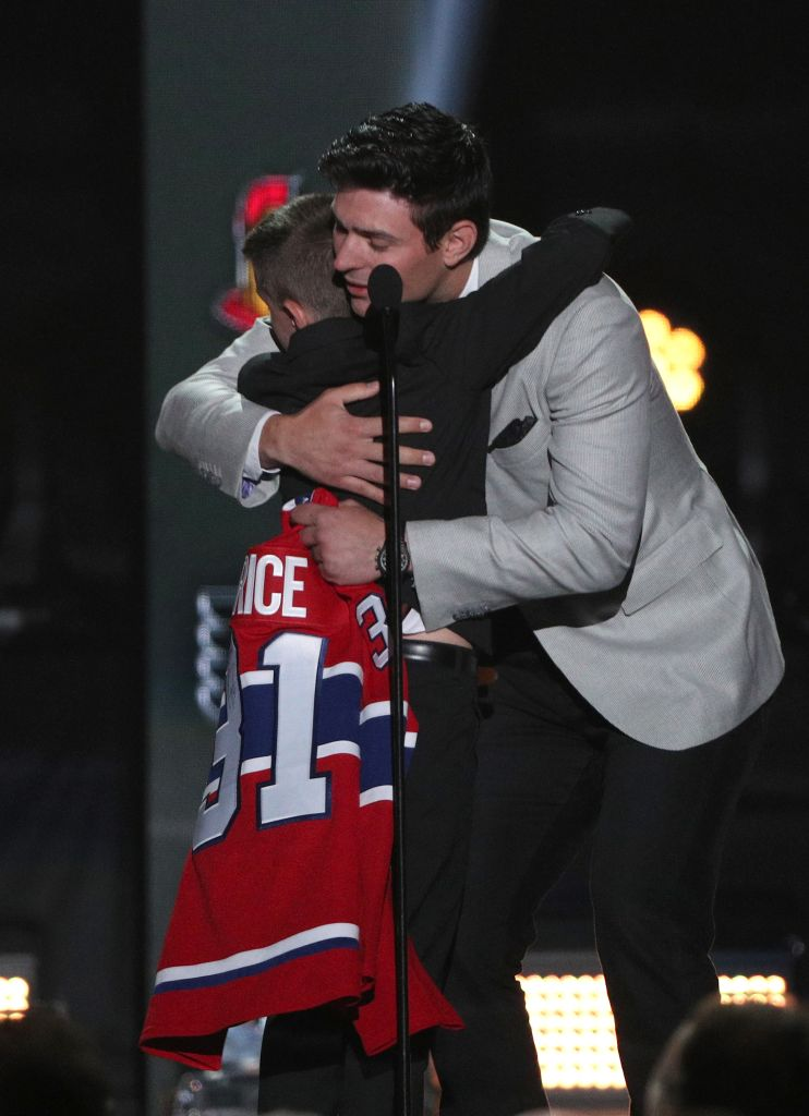 Anderson Whitehead and Carey Price (Dave Sandford/NHLI via Getty Images)