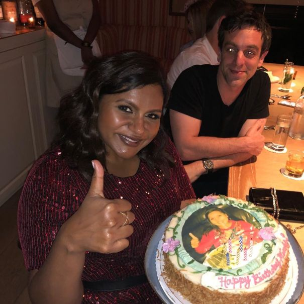 Mindy Kaling Celebrates Birthday With B.J. Novak