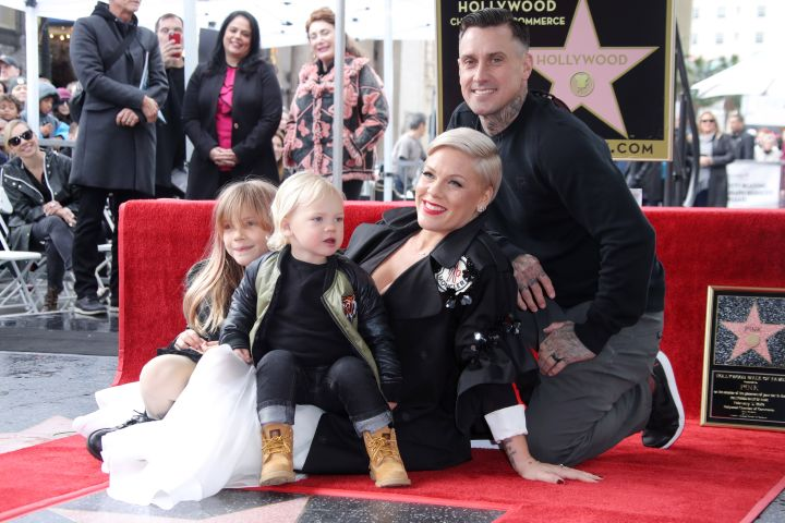 Mandatory Credit: Photo by Matt Baron/Shutterstock (10094961fe) Willow Sage Hart, Jameson Hart, Pink and Carey Hart Pink honored with a star on the Hollywood Walk of Fame, Los Angeles, USA - 05 Feb 2019