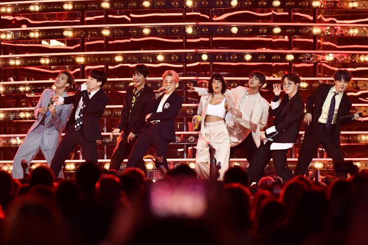 Mandatory Credit: Photo by Rob Latour/Shutterstock (10222625eu) Halsey and BTS Billboard Music Awards, Show, MGM Grand Garden Arena, Las Vegas, USA - 01 May 2019