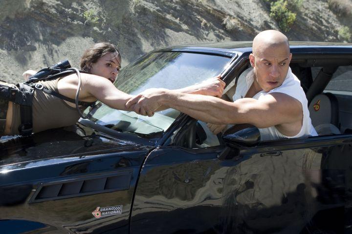Michelle Rodriguez and Vin Diesel in 'Fast & Furious' Snap Stills/Shutterstock
