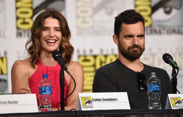 Cobie Smulders Joins Forces With Jake Johnson At Comic-Con