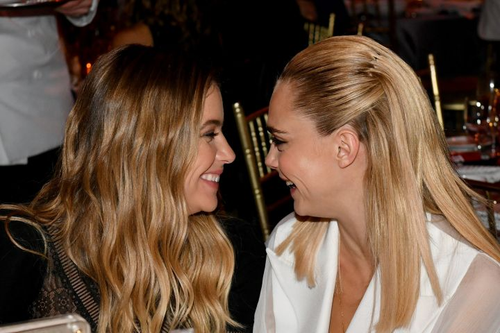 Ashley Benson and Cara Delevingne. Photo: Craig Barritt/Getty Images  for The Trevor Project