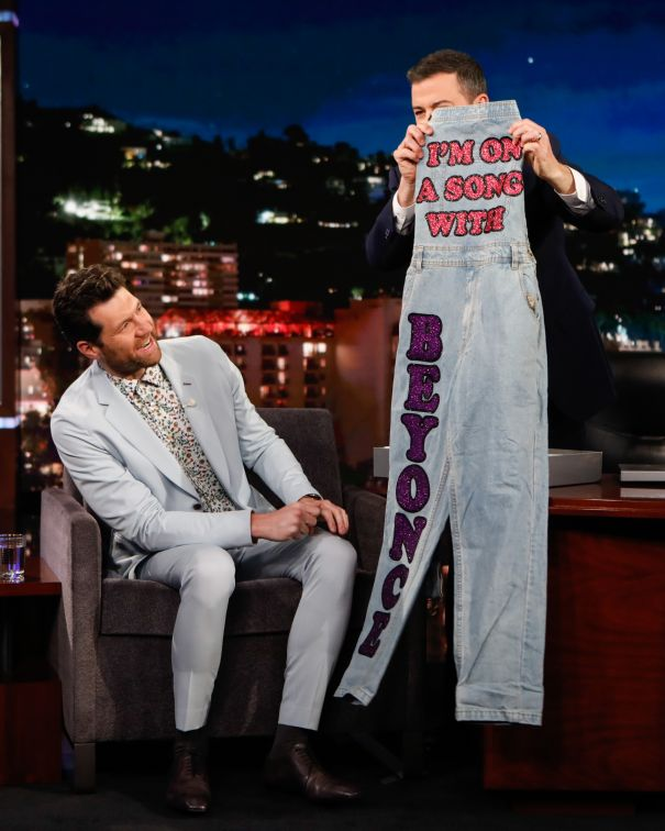 Billy Eichner Receives Bedazzled Beyonce Overalls