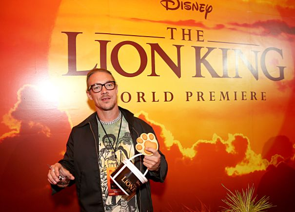 Diplo Gathers The Snacks At The World Premiere