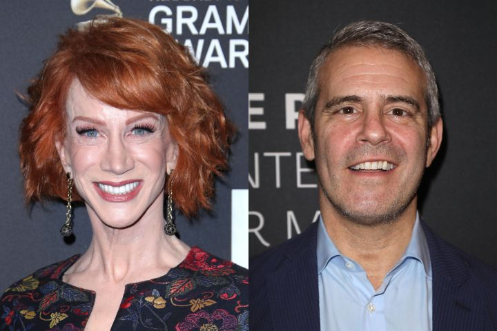 Kathy Griffin, Andy Cohen. Photo: Shutterstock