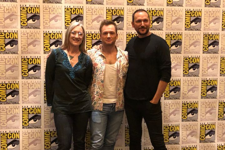 Lisa Henson, Taron Egerton and Louis Leterrier - ET Canada