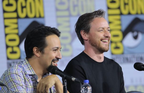 Lin-Manuel Miranda And James McAvoy Are All Smiles At Comic-Con