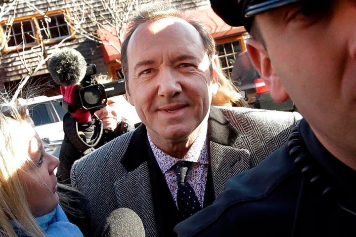 Actor Kevin Spacey arrives at district court in Nantucket, Mass.