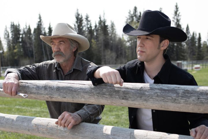 A glimpse into Jack's past – Jack Bartlett, played by Shaun Johnston, together with a young version of Jack, played by Shaun's real life son, Shea Johnston.
