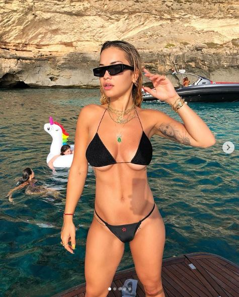 Rita Ora Relaxes In Spain
